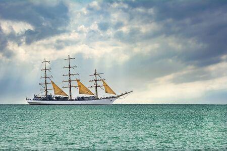 Sailing Ship in the Black Sea, Bulgaria