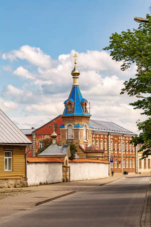 The Orthodox Church of The Holy Spirit in the The Holy Spirit Mens Monastery, Jekabpils, Latvia 写真素材