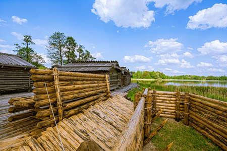 Araisi lake dwelling site (lake fortress), Latvia Banco de Imagens