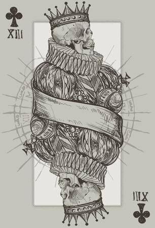 calavera: Rey Esqueleto Jugar Cesta Traje Vectores