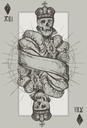 scepter: King Diamond suit vector illustration