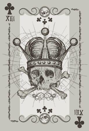 necromancy: Skul l Playin Cart Suit illustration Illustration