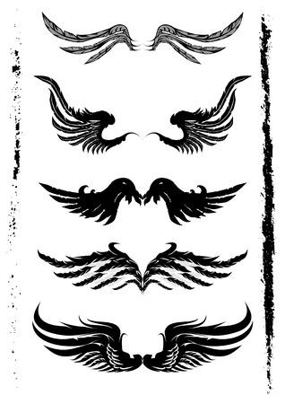 Vleugels Set en Grunge Element