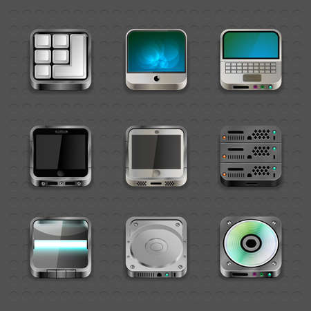 Apps Icons Set Vector Illustration Vector