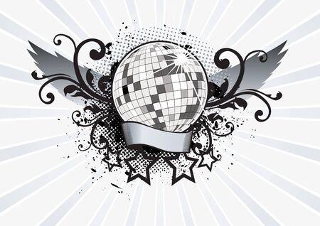 Disco Ball Pathy Vector Illustration