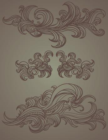 illust: Floral Swirl Hand Draw Illust