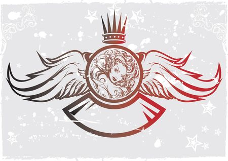 tattoo girl: Ilustraci�n vectorial Emblema Tattoo Girl Vectores