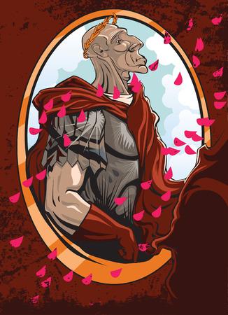 ancient roman: Illustration of a cartoon Caesar winner