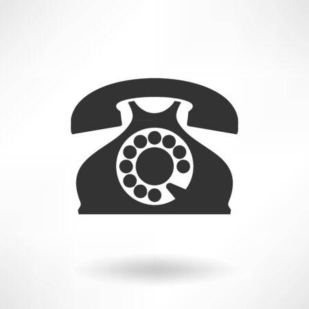 vintage phone: Simply Vintage Phone Icons Illustration