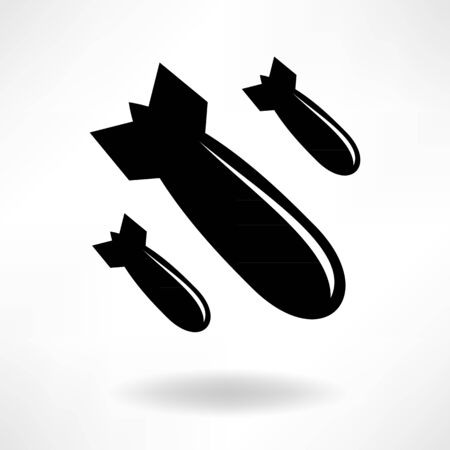 bomb cartoon: A simple icon bomb on a light background Illustration