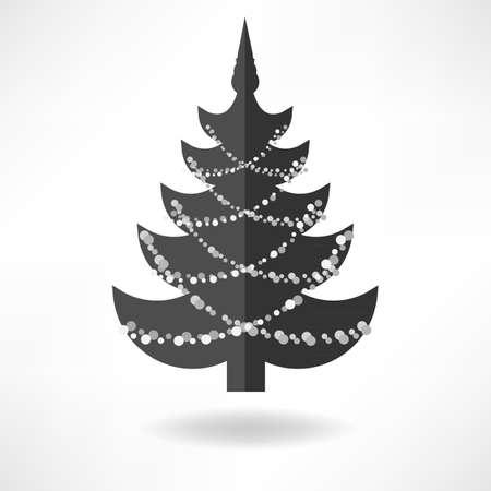 christmas tree illustration: Christmas Tree Simple Illustration Icon Illustration