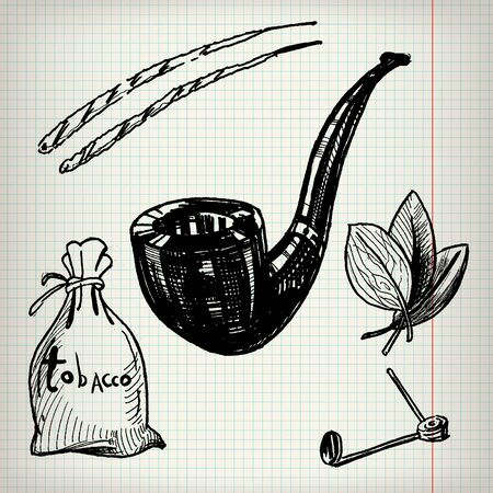 toxic product: Set of sketches on the theme of tobacco