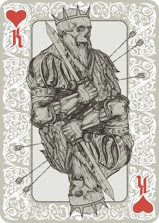 necromancy: Skeleton King Playing Cart suit