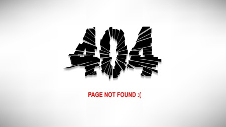 web site design template: Page Not Found Illustration