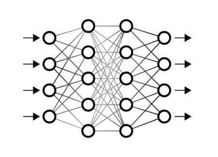 Red neuronal ilustración vectorial
