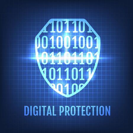Digital Protection Concept Vector Illustration
