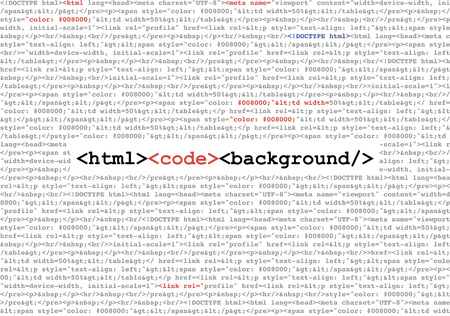 Html Code Abstract Background Vector Illustration