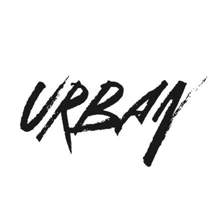 The inscription Urban in dirty graffiti style. Vector Illustration Reklamní fotografie - 133571297