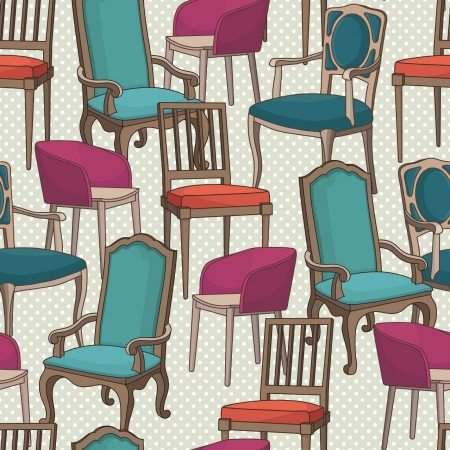 former: Vector pattern with armchairs