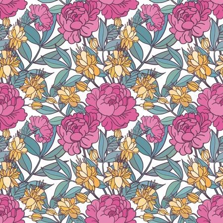 Cute floral seamless pattern background Фото со стока - 21258490