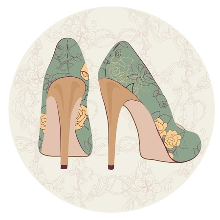 beautiful retro shoes Vector