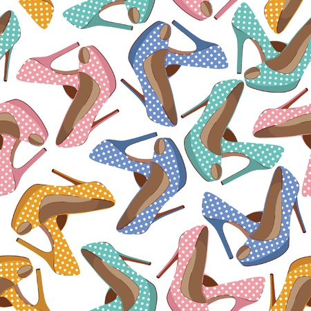 Beautiful shoes pattern Vector