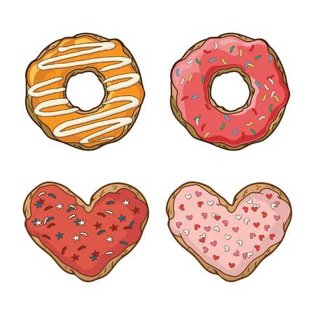 Vector set with cookies and donuts Vector
