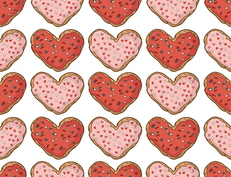 Seamless pattern with cookies Vector