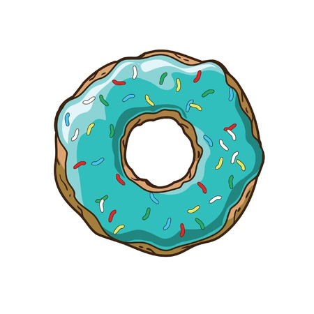 Vector donut Ilustracja