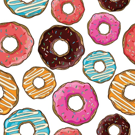 Seamless pattern with donuts Stock Vector - 21523925
