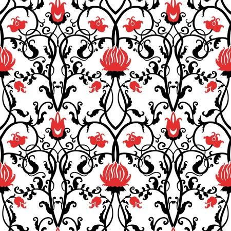 アール ヌーボー様式で描かれた美しいベクター パターン  イラスト・ベクター素材