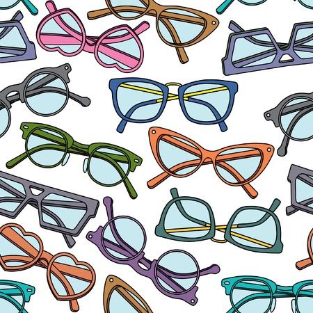 眼鏡のシームレス パターン  イラスト・ベクター素材