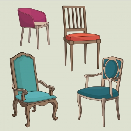 Vector Set of Armchairs Vector
