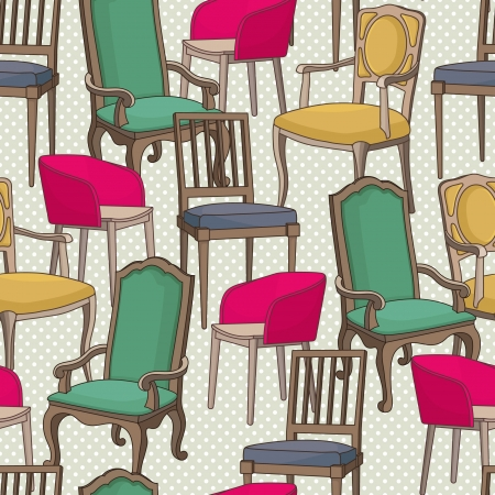 Vector pattern with armchairs Vector