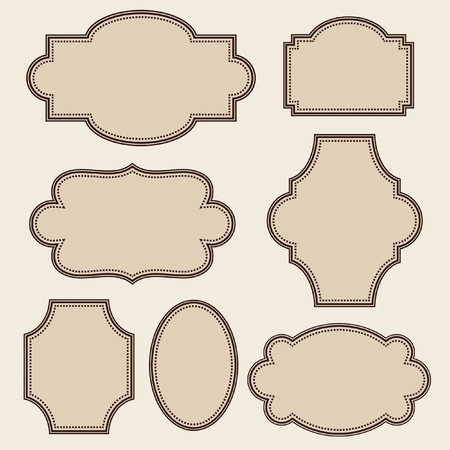 Vintage frames set Vector