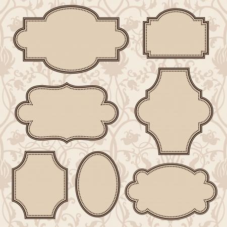 style: Vintage frames set