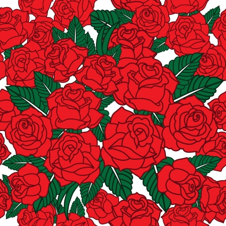 vector pattern with roses Stock Vector - 21524876