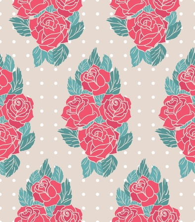 vector pattern with roses Stock Vector - 21524874