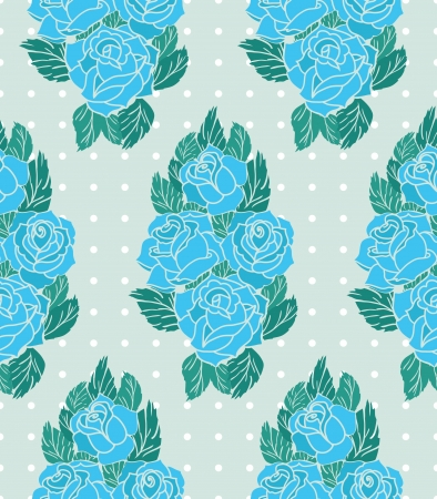 vector pattern with roses Stock Vector - 21524875