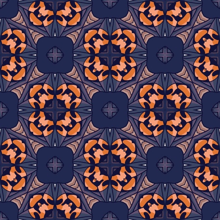 beautiful vector pattern drawn in art nouveau style Vector