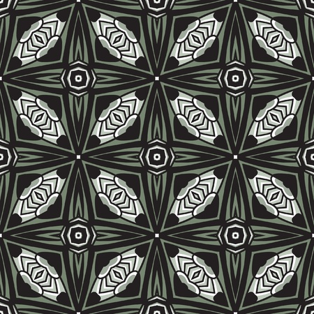 jugendstil: beautiful vector pattern drawn in art nouveau style