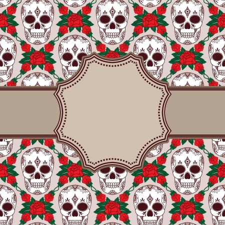 Vector vintage frame with skulls Stock Vector - 21525327