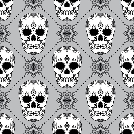 vector pattern with skulls Stock Vector - 21525330