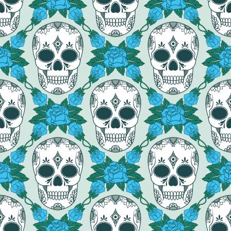 vector pattern with skulls Stock Vector - 21525332