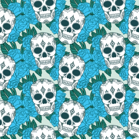 vector pattern with skulls Stock Vector - 21525335