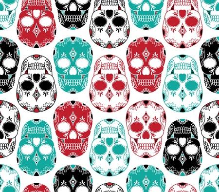 Modèle vectoriel avec des crânes Banque d'images - 21525355