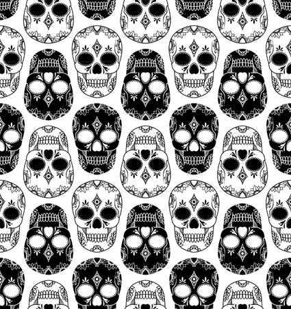 vector pattern with skulls Stock Vector - 21521673