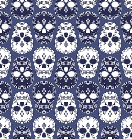vector pattern with skulls Vector