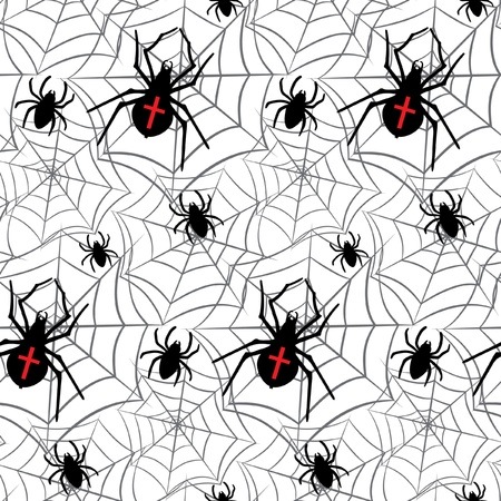 Vector spiders seamless pattern Vector