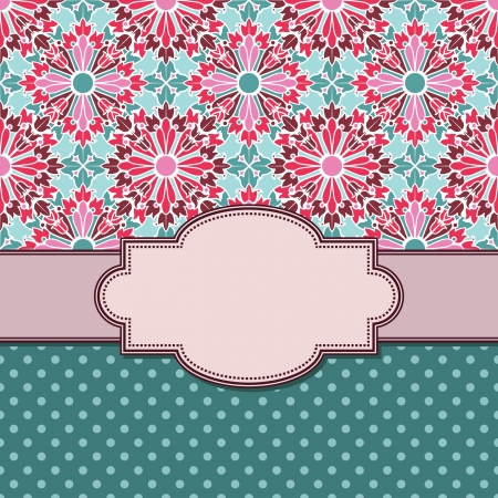 Vintage vector flower frame Vector